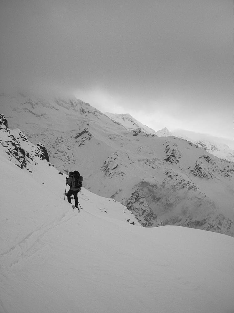Finding our way up from Sealy Tarns
