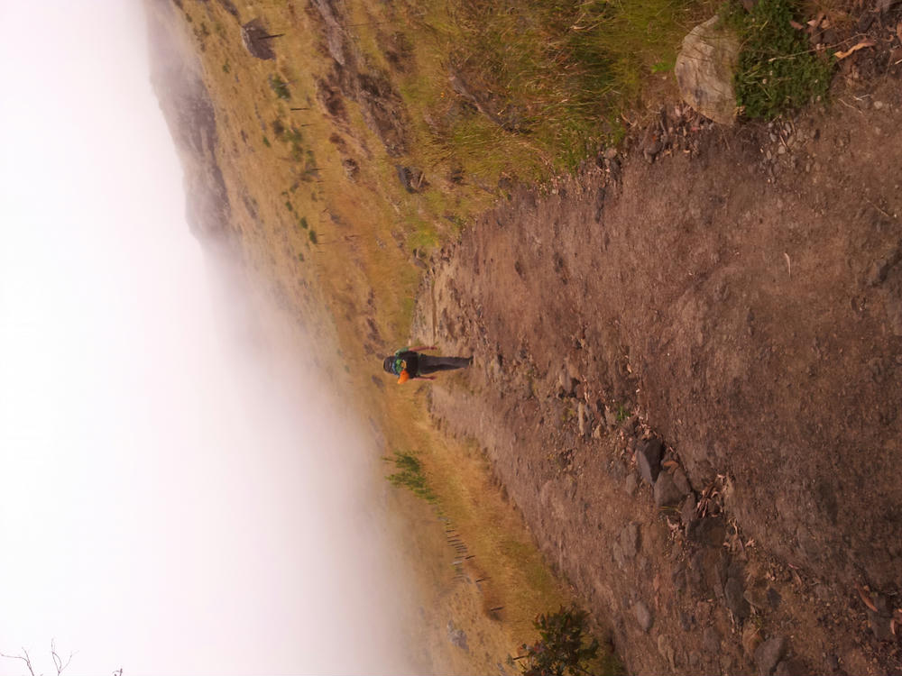 Walking up into the clouds