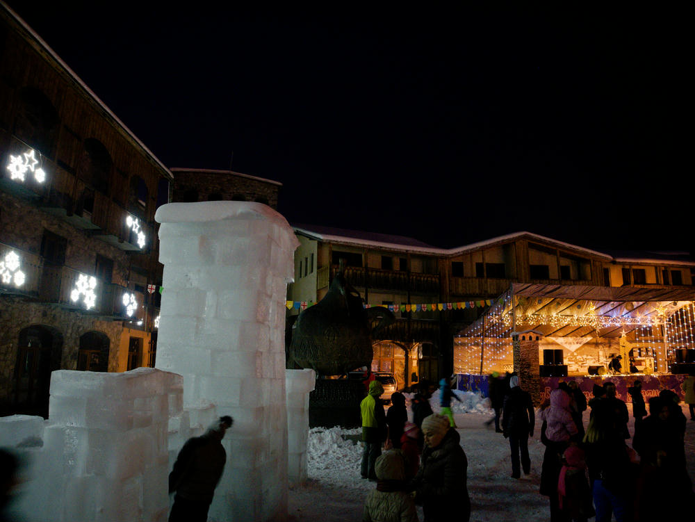 New Year's Eve celebrations in Mestia